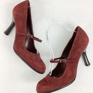 Nine West Practicalo Suede Mary Janes Size 8